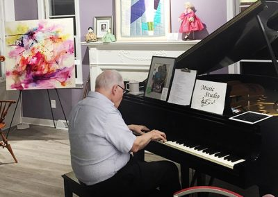 Joe Schafer Playing Piano